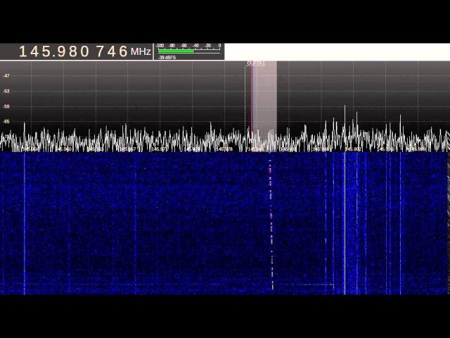 Signal satellite OUFTI 1 26 04 2016 04 07 UTC R4UAB
