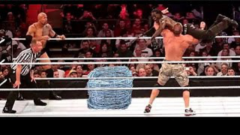 (OMG Crazy Match Don't MiSs iT) Jhon Cena The Rock vs The Miz R-Truth Full HD