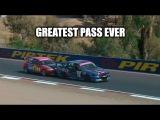 GREATEST MOTORSPORT PASS EVER - Honda Civic vs Holden Commodore VP - Bathurst 12 Hour Support Race