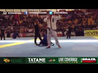 Alex Nascimento submits Erberth Santos at the 2016 Brasileiro de Jiu-Jitsu