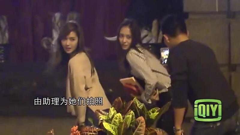 Jungsis (Джесіка і Крістал) вечеряють разом у Шанхаї.