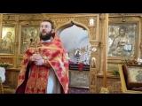 Проповедь в субботу отец Вячеслав Нефедов