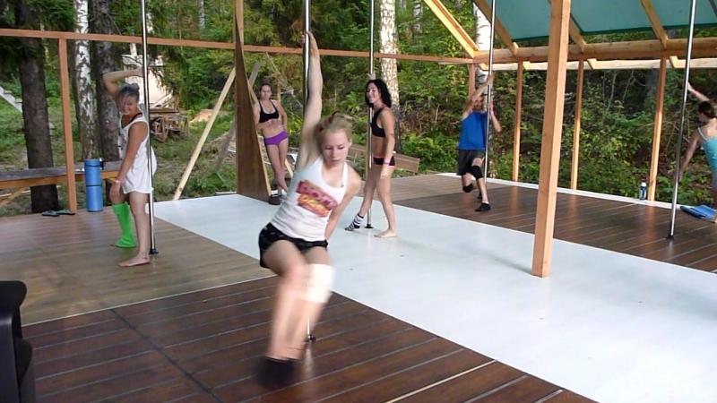 Pole Dance Camp 2016 - Юнона Юникова, связка с урока (4ая группа)