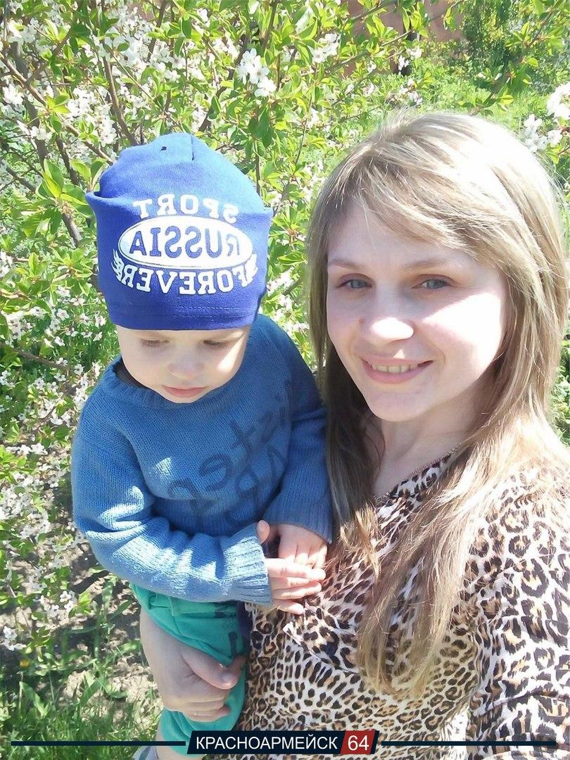 Елена Аксененко и ее сын Иван