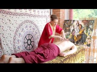 Расслабляющий, йога-массаж спины для мужчин. Relaxing yoga back massage for men
