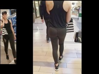 Спортивная девочка в штанах для йоги и её попка