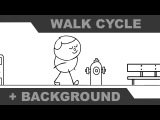 How to Animate a Walk Cycle and the Background