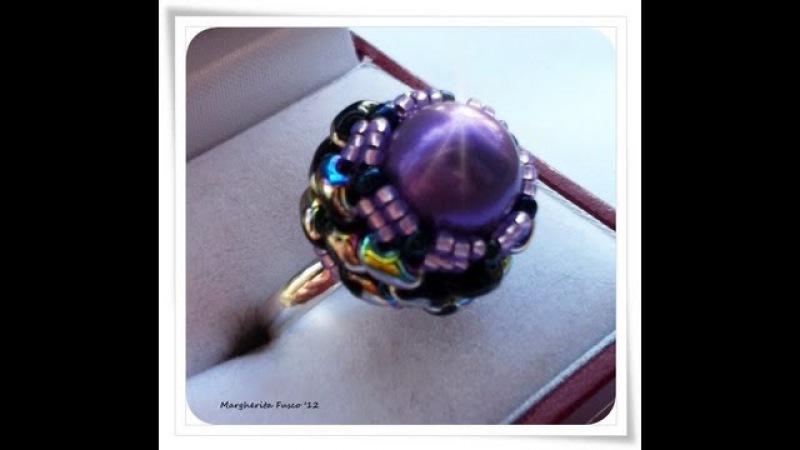 Tutorial come fare un anello con perline superduo e perla