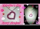 CRAW Heart Pendant for Valentine's Day Beading Tutorial by HoneyBeads1