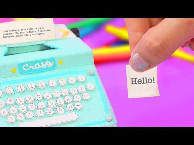 Haz una MINI MÁQUINA de NOTAS para tu escritorio - ¡Organízate ya! ✄ Craftingeek