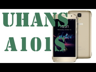 UHANS A101S Gold Smartphone Android 6.0 MTK6580 2GB RAM 16GB ROM