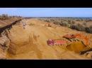 Крымъ 4K: Выборка песка изъ защитной дамбы Нижне-Чурбашскаго хвостохранилища ЖРК