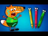 FOX FAMILY Baby vs Colorful Pencils Funny Story Full Episodes! Finger Family Song Nursery Rhymes