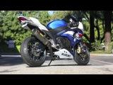 MOTORCYCLE - SUZUKI GSX-R 1000 K7 CITY RIDE, HIGH SPEED, NEW AKRAPOVIC EXHAUST!