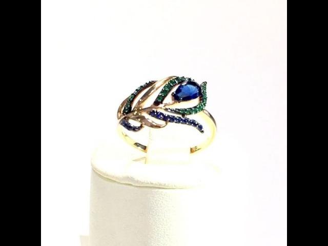 Прекрасное кольцо Перо павлина, которое принесёт Вам удачу 🍀Перо является символом красоты, бессмертия, гордости, благодар