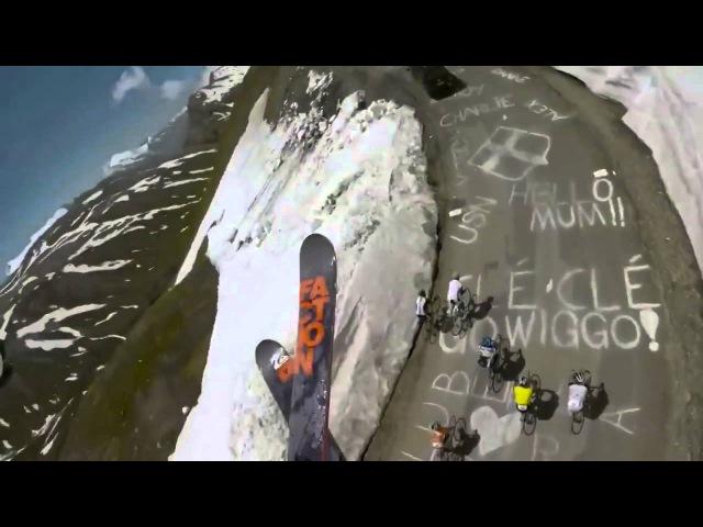 Самый крутой спуск на лыжах!