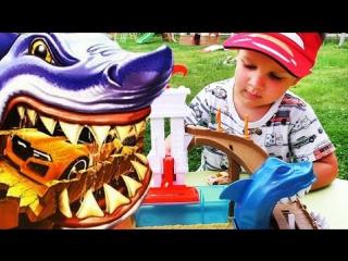 ★ Машинки ХОТ ВИЛС Трек АКУЛА Hot Wheels Track Sharkpark unboxing Hot Wheels Сars Машинки для Детей