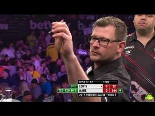 Adrian Lewis vs James Wade (2017 Premier League Darts / Week 3)