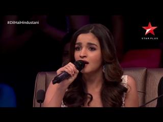 Алия Бхатт в исполнении песни Ae Dil Hai Mushkil на шоу Dil Hai Hindustani