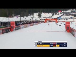 Лыжные гонки Кубок мира Лиллехаммер Норвегия 03_12_16 женщины 5 км свободный стиль