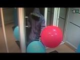 Вскрытие банкомата воздушными шариками