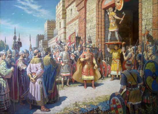 Твой щит на вратах Царьграда (Константинополя). Слава