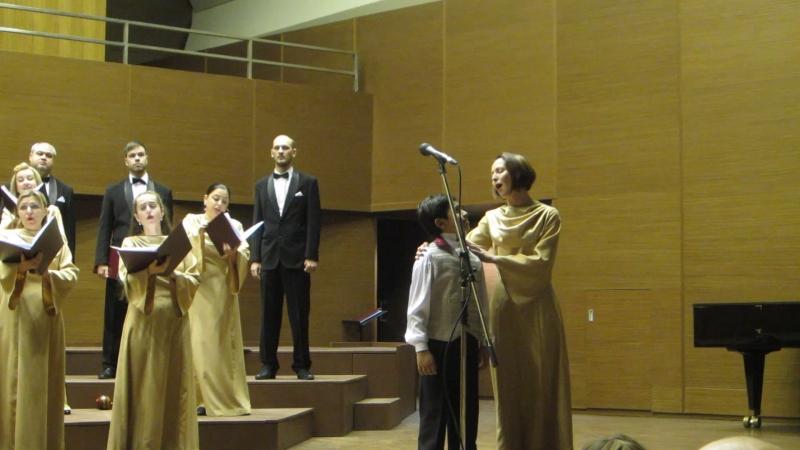 Выступление Аршада с хором им. Палкина на концерте в Харьковской обл.филармонии 27 ноября 2016 года .