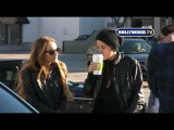 Lindsay Lohan , Samantha Ronson and Patrick on Beverly Blvd