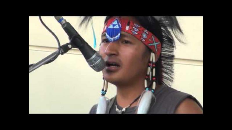 Индейцы на Савёловском вокзале в Москве 9.07.2012