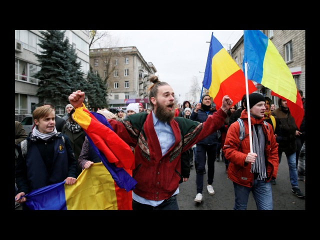 У Кішынёве пратэстуюць супраць вынікаў прэзідэнцкіх выбараў / Свет | Выборы в Молдове <Белсат>