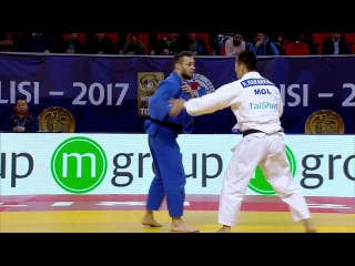 GP Tbilisi 2017, 73 kg, repechage, Uali Kurzhev(RUS)-Khadbaatar Narankhuu (MGL) vk.com/dzigoro_kano
