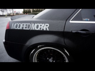 Satin Black Chrysler 300c