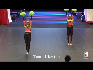 Чемпионат Мира по Черлидингу (WCC2016) номинация Freestyle pom double Гаврушко Лиля и Блецко Анастасия. УКРАИНА