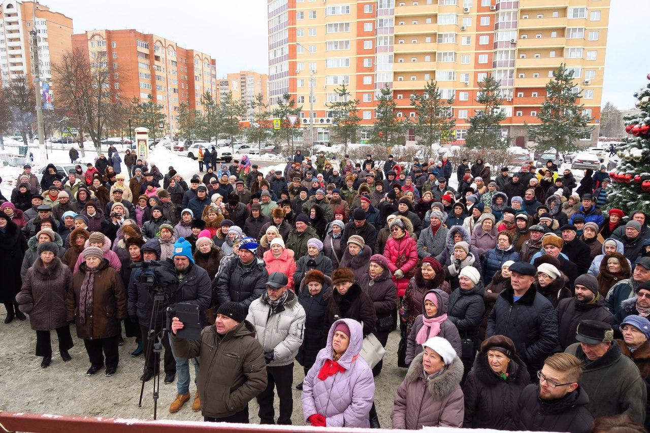 Митинг в Подмосковном Селятино