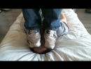 Trampling Face in Trashed Nike's and Grey-socks Size 13's