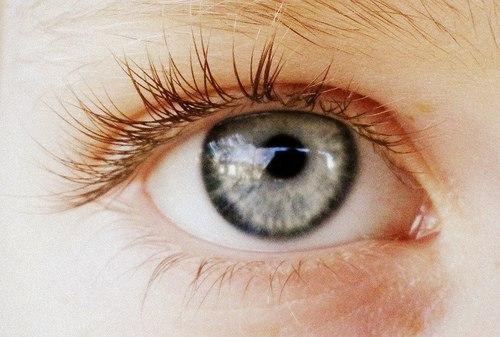 Серого цвета глаза