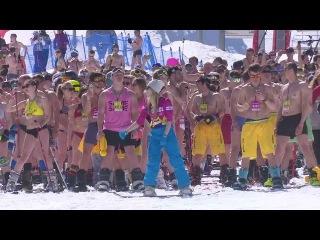 Bikini skiers in Russia set to break Guinness World Record