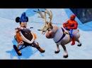 Мультик игра для детей 2016 на русском Микки Маус и Человек Паук Тачки Disney