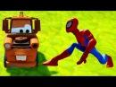 Новые Серии Мультик Игра Человек Паук и Матер Тачки вместе играют  Spiderman & Mater