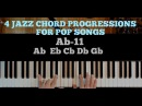 4 JAZZ CHORD PROGRESSIONS FOR POP SONGS