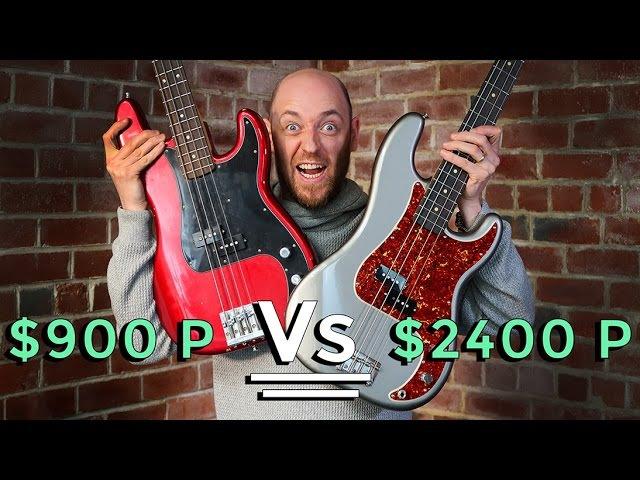 $900 P Bass Vs $2400 P Bass - Precision Bass Shootout