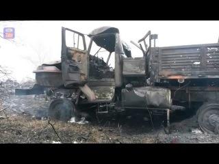 Разгром колонны РФ под Донецком/The defeat of rus convoy near Donetsk
