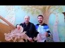 Короткометражное видео Барельеф на стене с цветной росписью