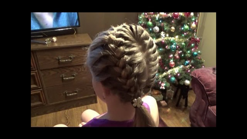 Плетение косичек.Супер причёска за 10 минут! Hairstyles.Braids.Tutorial.