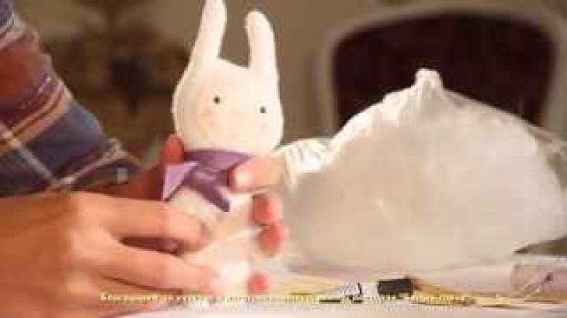 «Ручная работа». Заяц из флиса и полимерной глины (23.09.2015)