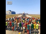 Can 100 people stop a plane in GTA V