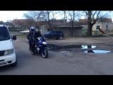 на мотоцикле апрель 2017 ул.Черняховского с Арутом)
