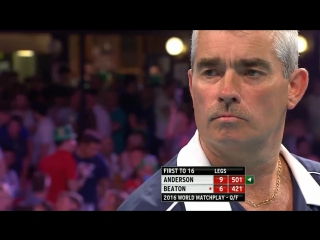 Gary Anderson v Steve Beaton (PDC World Matchplay 2016 / Quarterfinal)