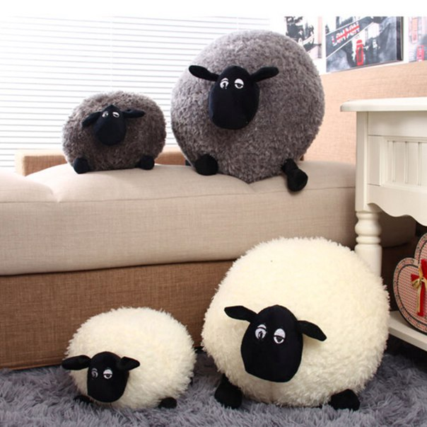 Милые овечки (подушки)  https://ru.aliexpress.com/store/product/New-Lovely-Stuffed-Soft-Plush-Toys-Cushion-Covers-Sheep-Character-White-Gray-Kids-Baby-Toy-Gift/1354339_2043438974.html?detailNewVersion=&categoryId=40503
