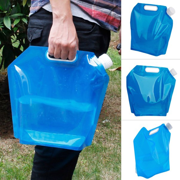 Складная канистра!  https://ru.aliexpress.com/store/product/5L-Outdoor-Foldable-Folding-Collapsible-Drinking-Water-Bag-Car-Water-Carrier-Container-for-Outdoor-Camping-Hiking/1489567_32662542238.html?detailNewVersion=&categoryId=100003293
